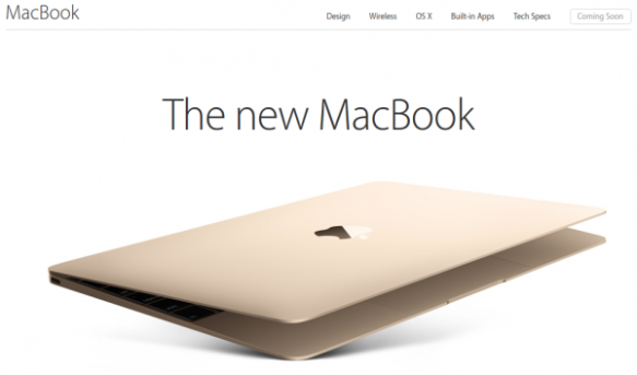 The new MacBook.