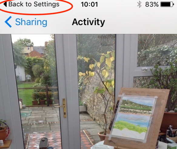 "iOS 9 gets its own ""back"" button system"
