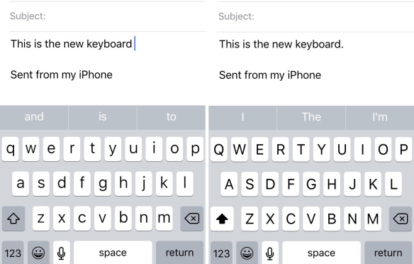 iOS 9 keyboard shows upper/lower case dynamically