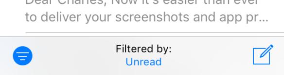 iOS 10's mailbox filter