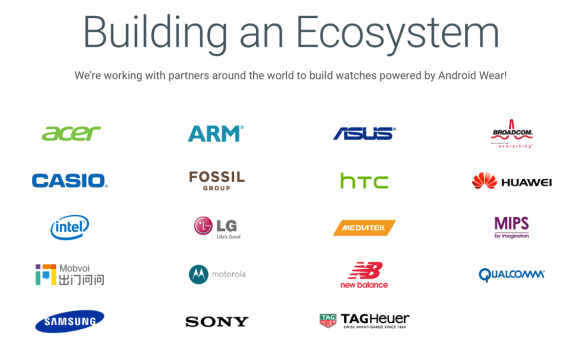 Android Wear partners