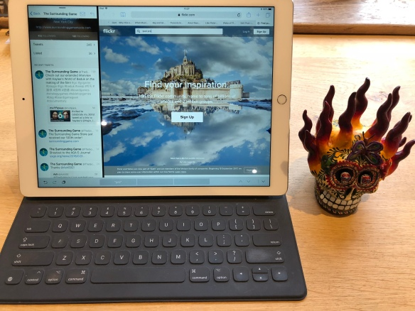 IPad Pro with Smart Keyboard, and devil